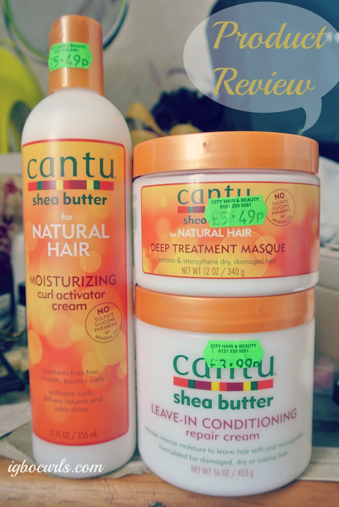 Product Review Cantu Shea Butter Trio Igbocurls